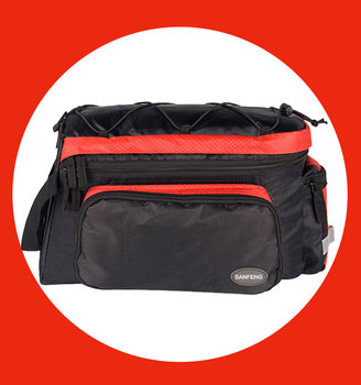 Water Resistant Bike Rear Pack Pannier Bag Wholesale,OEM Cycling Bicycle Rear Seat Trunk Bag With Rain Cover