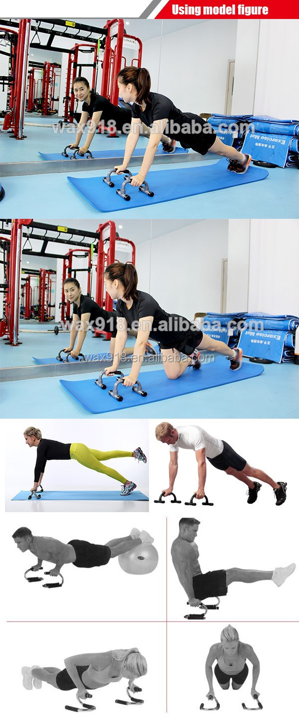 fitness equipment colorful plastic push up rack Push Up Bar