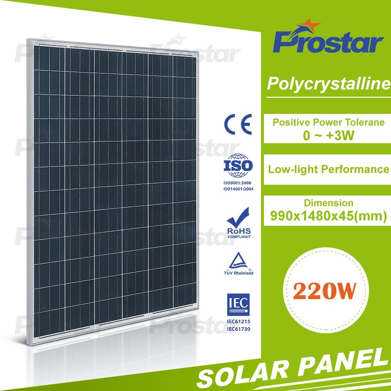 12v poly 220w prices for solar panels Mono Solar Module