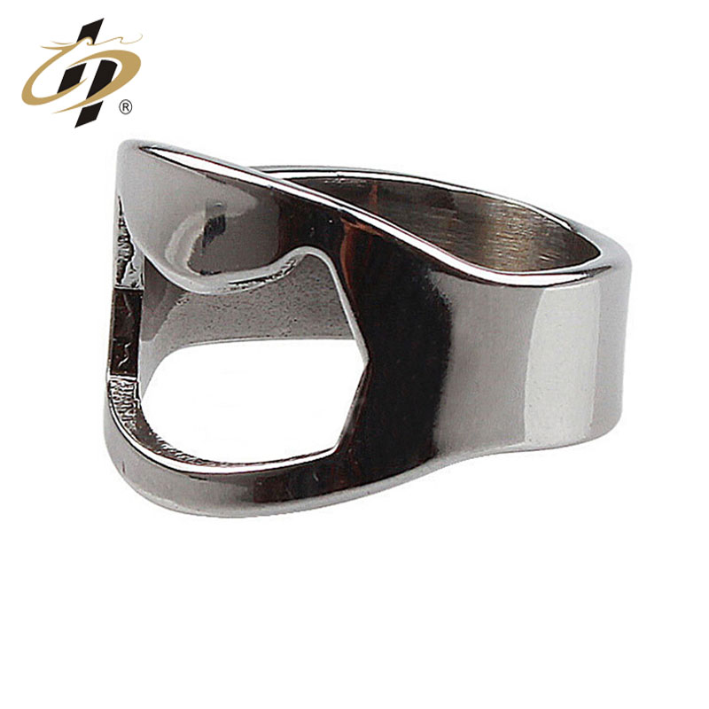 Free sample promotion gift stainless steel beer wine custom bottle opener ring