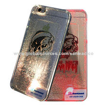 LED mobile phone case for iPhone 6S with liquid for Hallowmas day