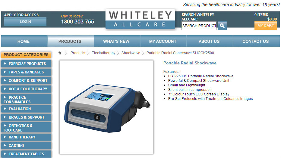 New Product! Portable Shockwave Therapy