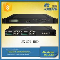 DVB-C, DVB-T, DVB-T2, DVB-S, DVB-S2 RF to ASI/IP digital Satellite Receiver