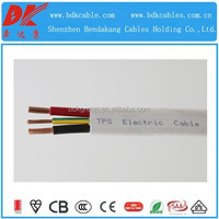 Copper conductor V-90/3V-90 PVC insulated and sheathed flat tps cable 2.5 sq mm cable