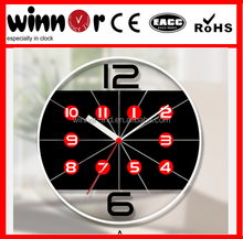 12 inch glass printing transprent billiards wall clock young town quartz clock movements,crystal clock