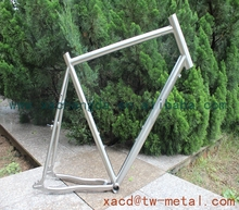 62CM ti road bike frame titanium road bike frame with big head tube and down tube customized titanium bicycle frame