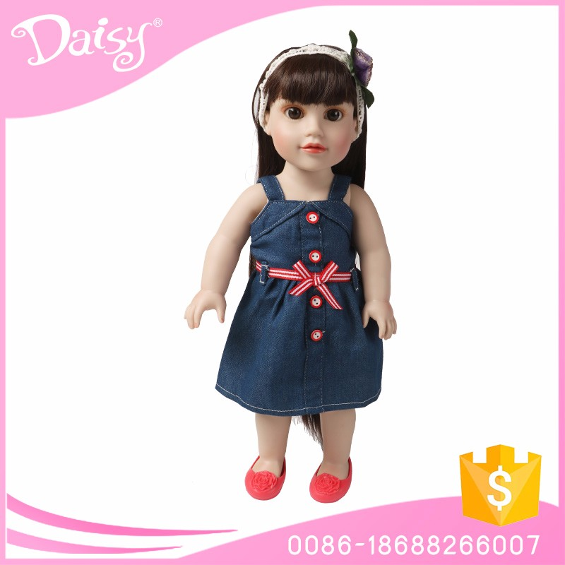 Customized 18 inch american girl dolls kid's doll