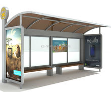 bus shelters price with advertising light boxes