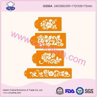 Flowers shape cake airbrush decoration tools stencils
