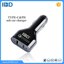 New hot product! IBD factory direct sale quick charge 3.0 USB-C type c car charger with PD 30W 14.5V/2A 20V/1.5A for new macbook