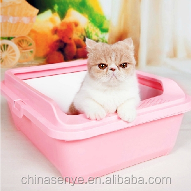 Cat litter basin Cat Toilet open double litter box pet toilet bedpan send litter shovel cat supplies
