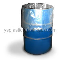White Thick Flat Plastic Bin liner Bags on Roll