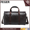 New Design Custom Wholesale Genuine Leather Men Weekend Travel Duffle Bag