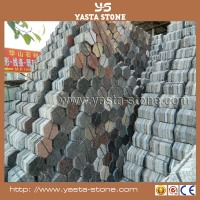 Sale hexagon paving stone granite polishing bricks