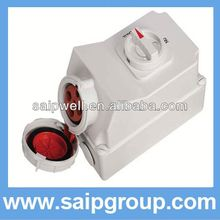 HOT Mechanical Industrial Socket german electrical plug and socket with Switch and Locks SP5110
