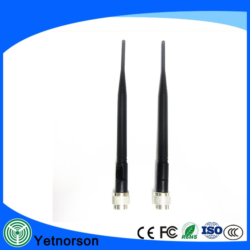 Dual Band Antenna GSM 900MHZ 3G UMTS WCDMA 2100MHZ rubber whip antenna 5dBi N Male connector,mobile signal indoor antenna