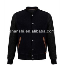 Custom Made Fashion Split Wool Bomber Varsity Jacket