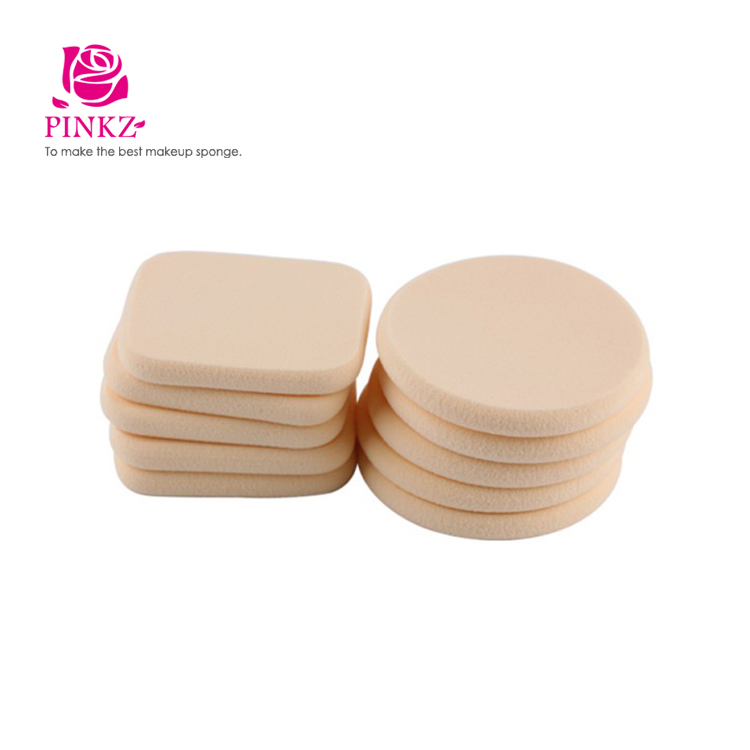 Cosmetic retail refillable powder puff / OEM foundation travel facial sponge powder puff
