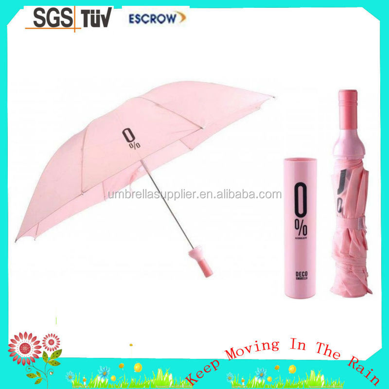 Most popular cap rose Polyester Vase shaped bottle umbrella