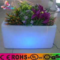 2015 Balcony light flowre vase & modern square flower pots with remote control