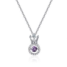 N70624001 xuping bisuteria, dacing stone purple crystal amethyst pendant necklaces