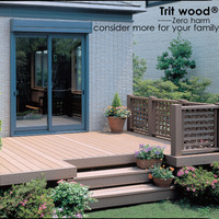 Outdoor WPC Decking Wood Plastic Composite Decking wpc decking board