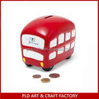 2015 Popular New Design Custom Resin School Bus Money Box