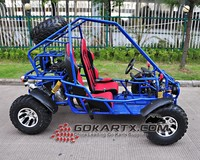 China dune buggy 600cc with Double chain power transmission