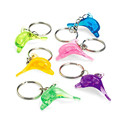 ICTI certificated custom made 3d clear plastic dolphin keychains