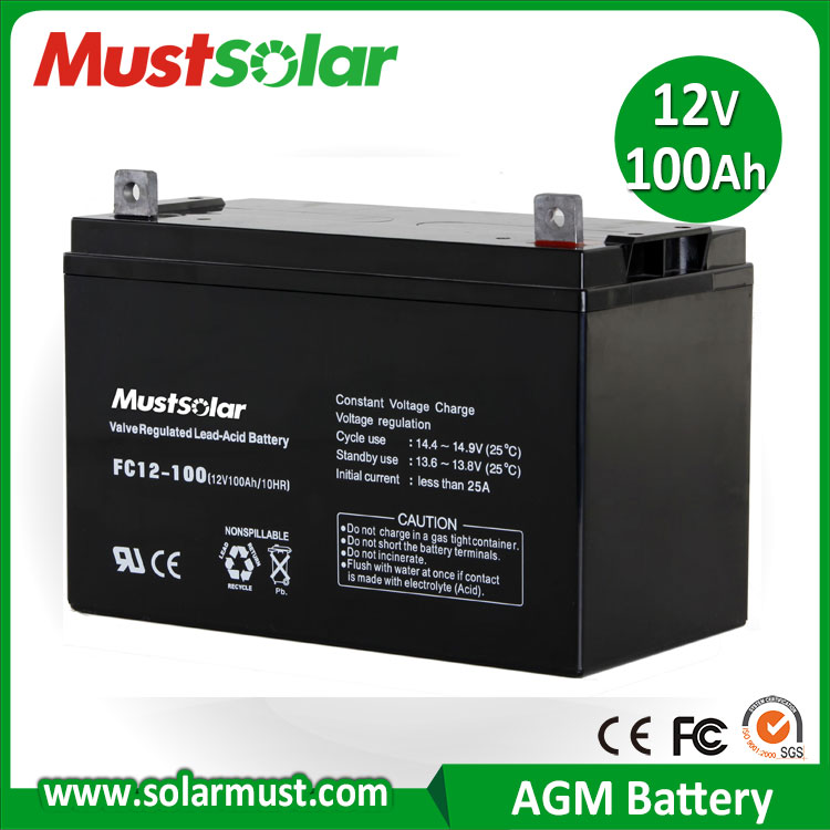 China Manufacturer 12V 100Ah Inverter Battery for Solar Energy Storage