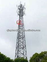 Steel green filed self supporting lattice tower
