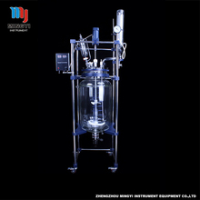 New type 20L GG-17 chemical glass laboratory reactor types with vacuum pump