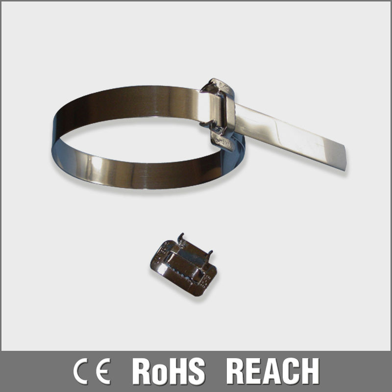 SS 316 pvc coated standard stainless steel cable ties