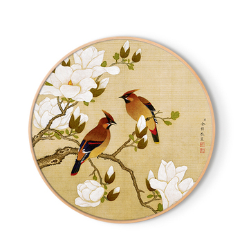 Chinese Style Flower and Bird Picture Print for Decor