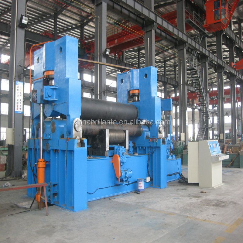 JIANGSU NANTON: BRILLANTE: 3 <strong>roller</strong> electric bending machine manufacture metal plate rolling machine upper <strong>roller</strong> universal