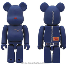 custom design plastic pvc vinyl bear brick bearbrick toy action figure in china/action figure toy