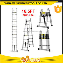 Aluminum Material connect Telescopic Ladder EN131/SGS used for bad weather
