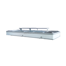 Supermarket sliding glass door island freezer
