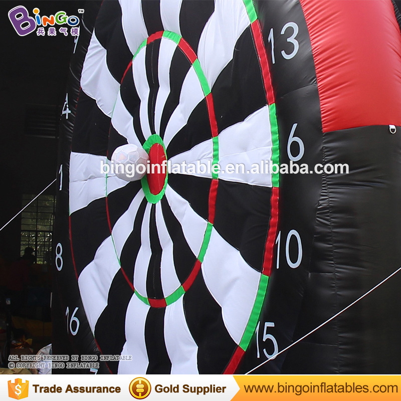 Hot sale 4M sticky inflatable dart board game with balls