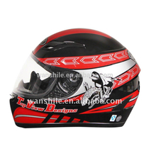 2017 new arrival fancy design saftey full face motorcycle helmet with DOT