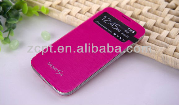 PU Flip Case for Samsung S4 Cellphone Cover