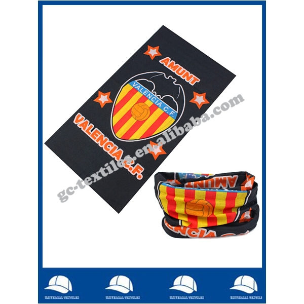 Cheap football team promotional seamless headwear scarf bandana
