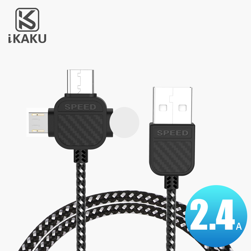 China guangdong 1m 3 feet durable nylon braided usb micro type c 8 pin all in one data cable