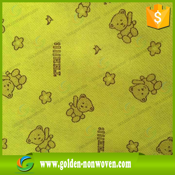 China Design Printed 50gsm spunbonded non woven fabric/ PP printing Nonwoven fabric For mask cover
