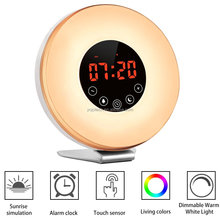 2018 New products LED display alarm clock with time & FM radio for home decor