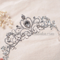 2017 Hotsale Style of Most Popular Beauty Pageant Crowns & Rhinestone Crystal Tiaras For Bride