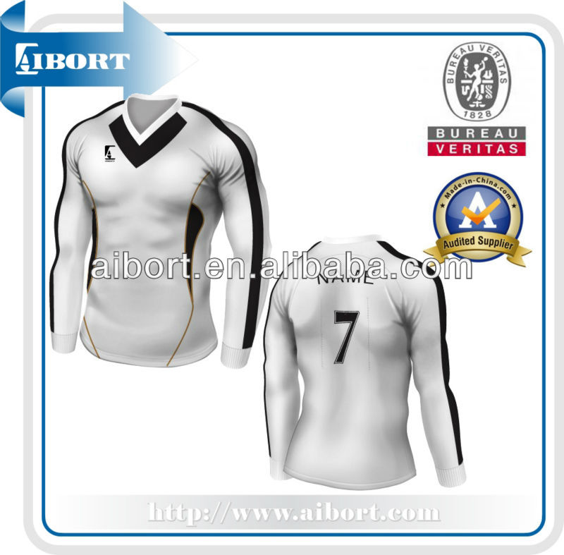 SUBSC-560 black and white big size soccer jerseys
