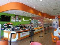 High grade beverages kiosk orange juice counter design fruit juice shop interior decoration