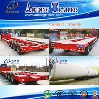 heavy duty hydraulic lifting and dropping steering large container transportation semi trailer/truck trailer for sale
