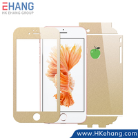 Trade assurance supplier 5 years experience Full Cover Champagne Gold screen protector For iPhone 6